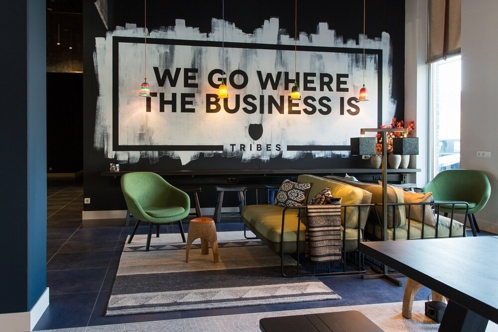 1. This to-the-point wall sticker from the Tribes' coworking space located in Eindhoven, Netherlands