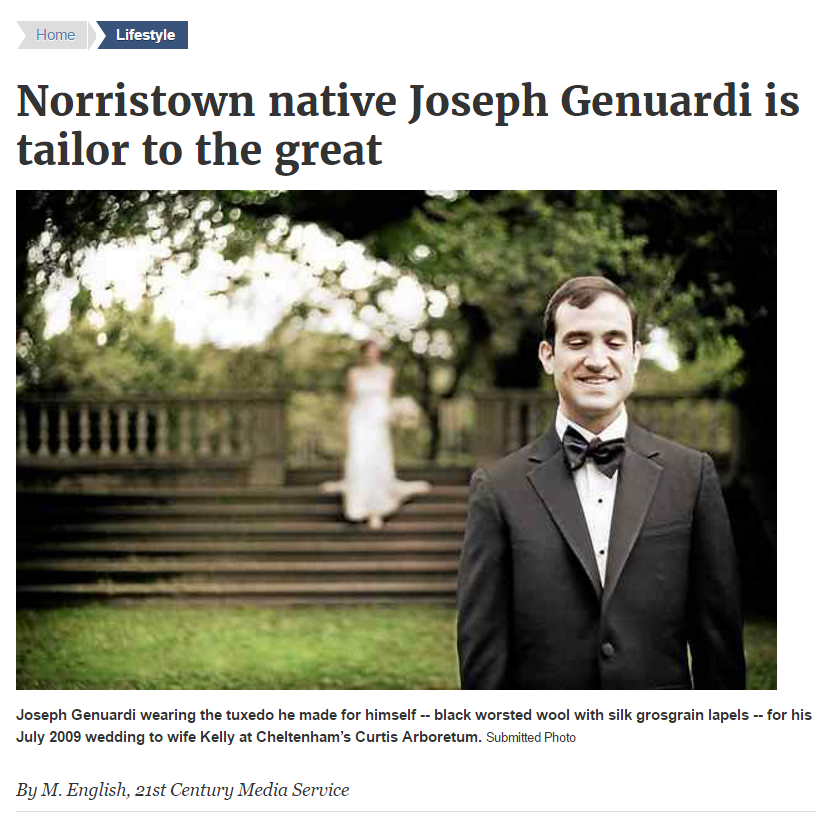 Norristown native Joseph Genuardi is tailor to the great -Times Herald