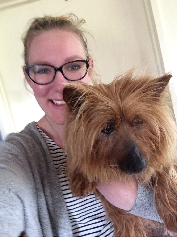 ANNA AND HER DOG GEM - PERFECT NAME FOR A PERFECT POOCH!