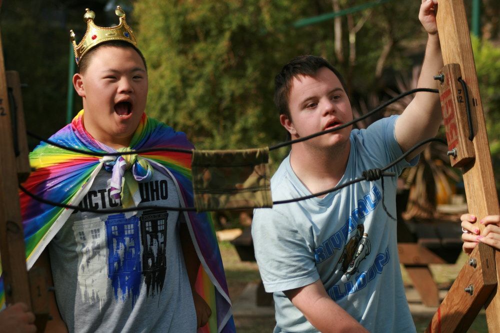 WROK - WROK is a holiday camp for teenagers who have disabilities. It is five days filled with friends, laughing, dancing, singing, rock climbing, catapults and heaps more. Blue Gum Lodge is ideally set up for people with disabilities.