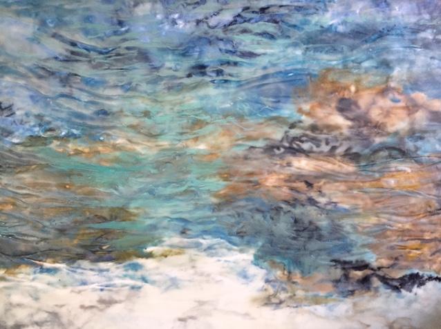 """Ebb Tide""                                                          Encaustic on Birch Panel                                                         30 x 20 ($3500.00)"