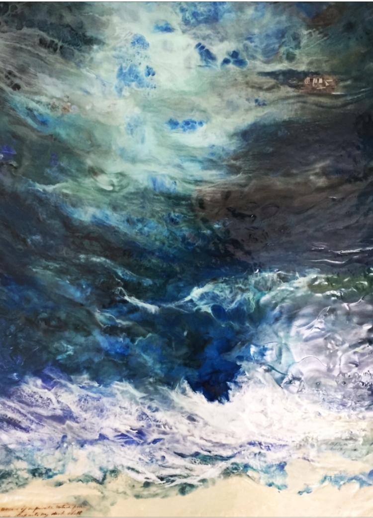 """Storm Surge"" Encaustic on birch panel 36 x 24 ($3000.00)"