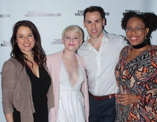 From left to right: Lauren Maykut (Margaret), Brynne McManimie (Creator), Peter Romano (Creator), Amber Robinson (Wanda Wilson)
