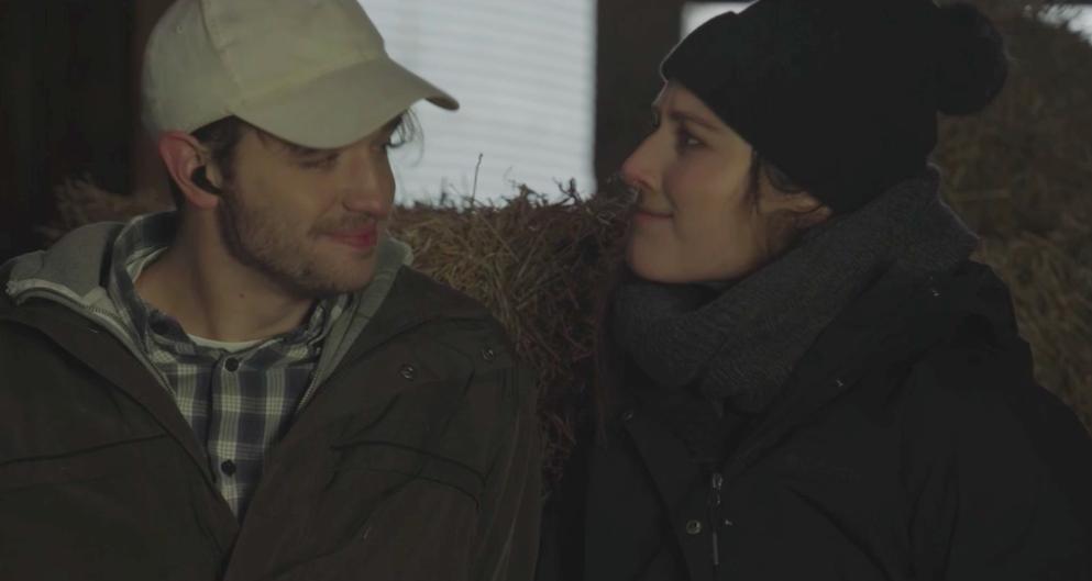 "Brett Houghton and Lauren Maykut in ""Birdsong"" directed by Nick Albarelli."
