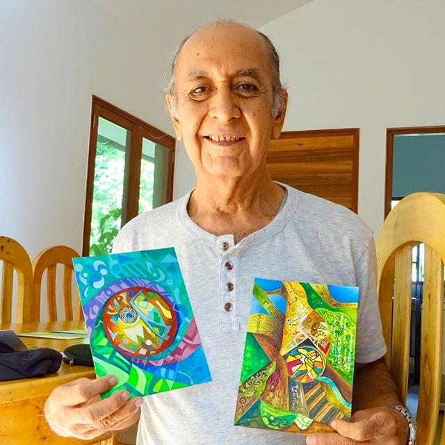 José, our artist friend from Iquitos shining after his Chacruna dieta #artist, #visionaryart, #visionaryartist, #shamanicart, #plantmedicine, #retreat, #ayahuasca,