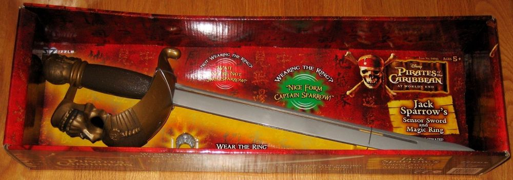 Pirates of the Caribbean - Jack Sparrow's sensor sword and magic ring