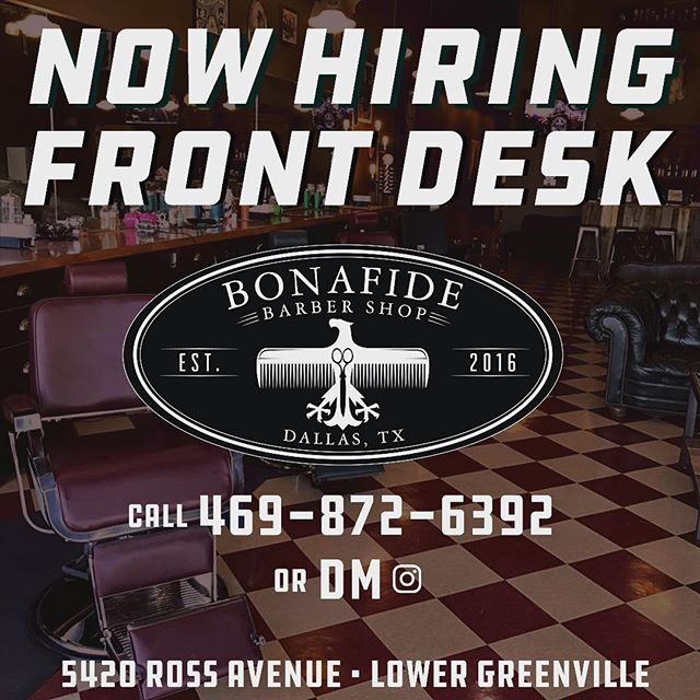 We are now hiring a full time position for our front desk. Looking for someone that is reliable has great customer service and outgoing.