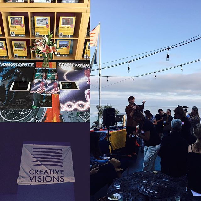 Thank you @creativevisionsfoundation and @kathyeldon for an amazing night and featuring Convergence for its Sundower.  Such an amazing group of artists, storytellers and activists. 😂#creativevisions #earth #storytellers #activists #creativeactivists #graphicnovel #sciencefiction