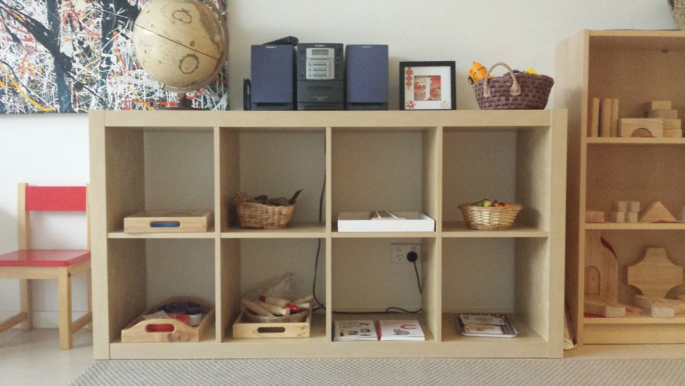 A beautifully ordered shelf makes toys easy to select