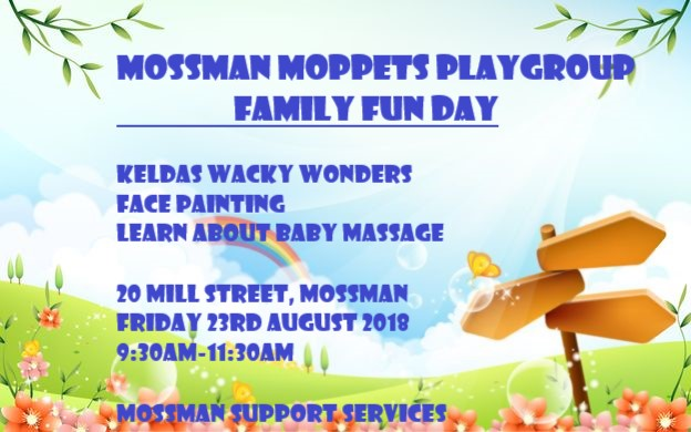 family fun day friday august 3rd mossman support services