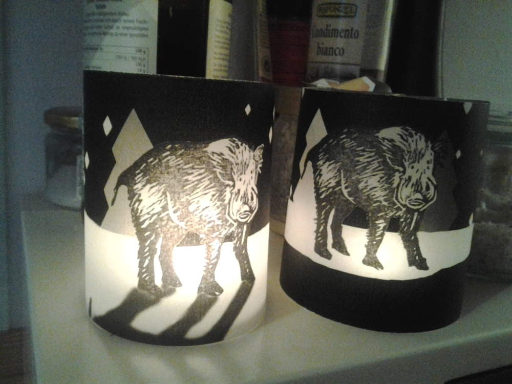 boar candle lights