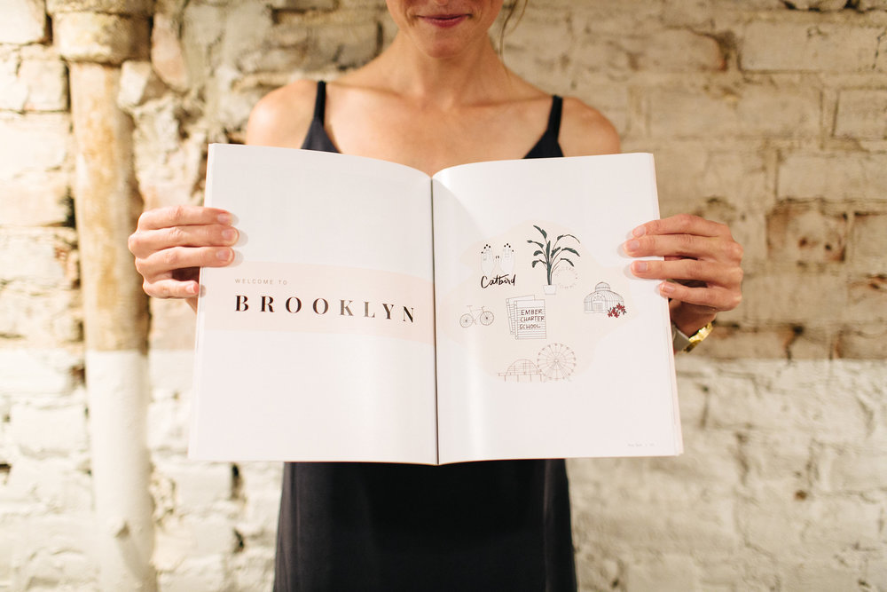 Bossladies Magazine Brooklyn Map by AlliK Design