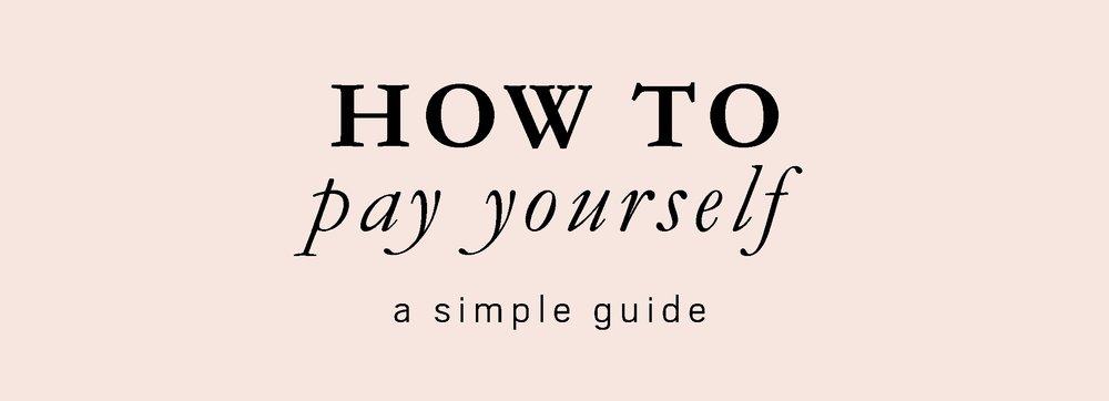 How do I pay myself