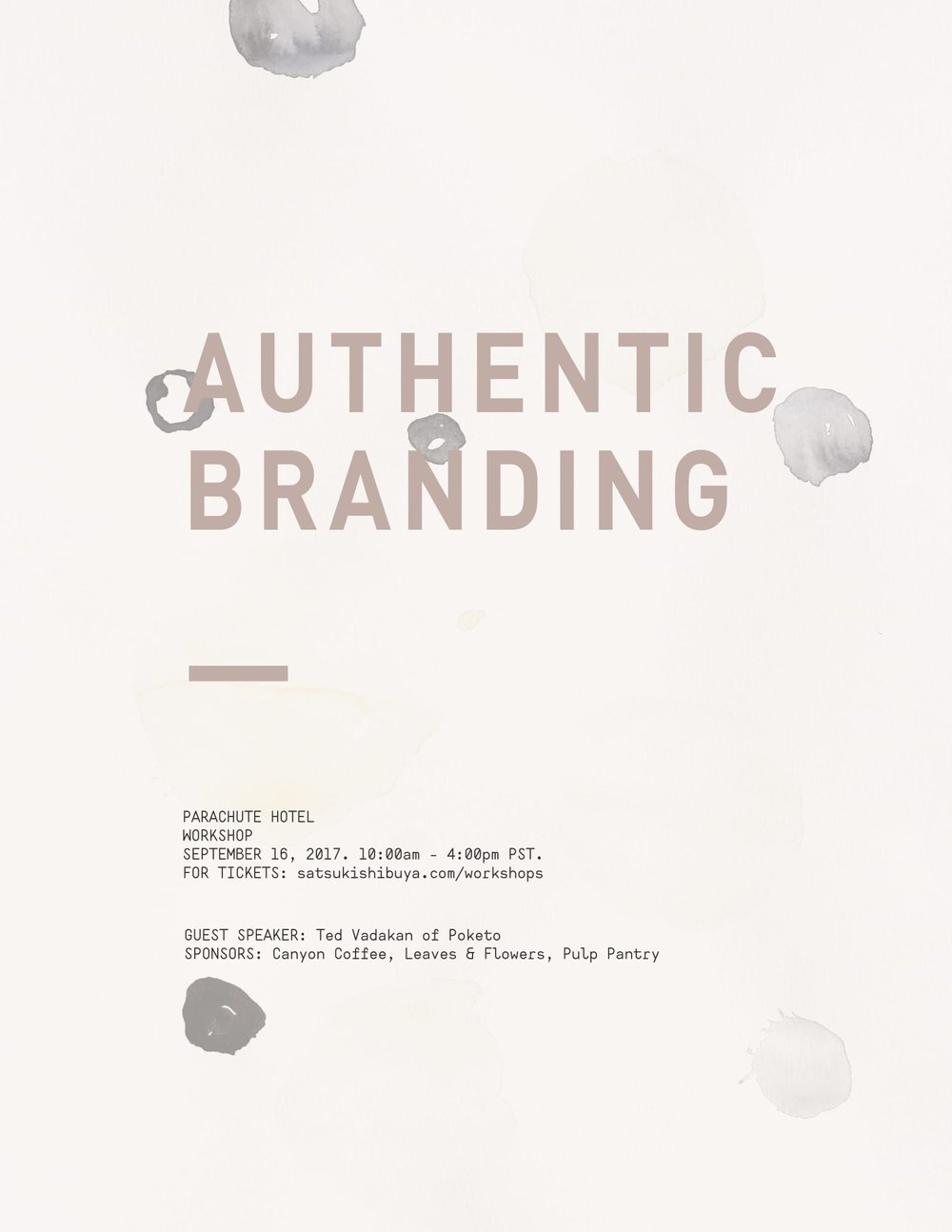 Authentic Branding Workshop with Satsuki Shibuya