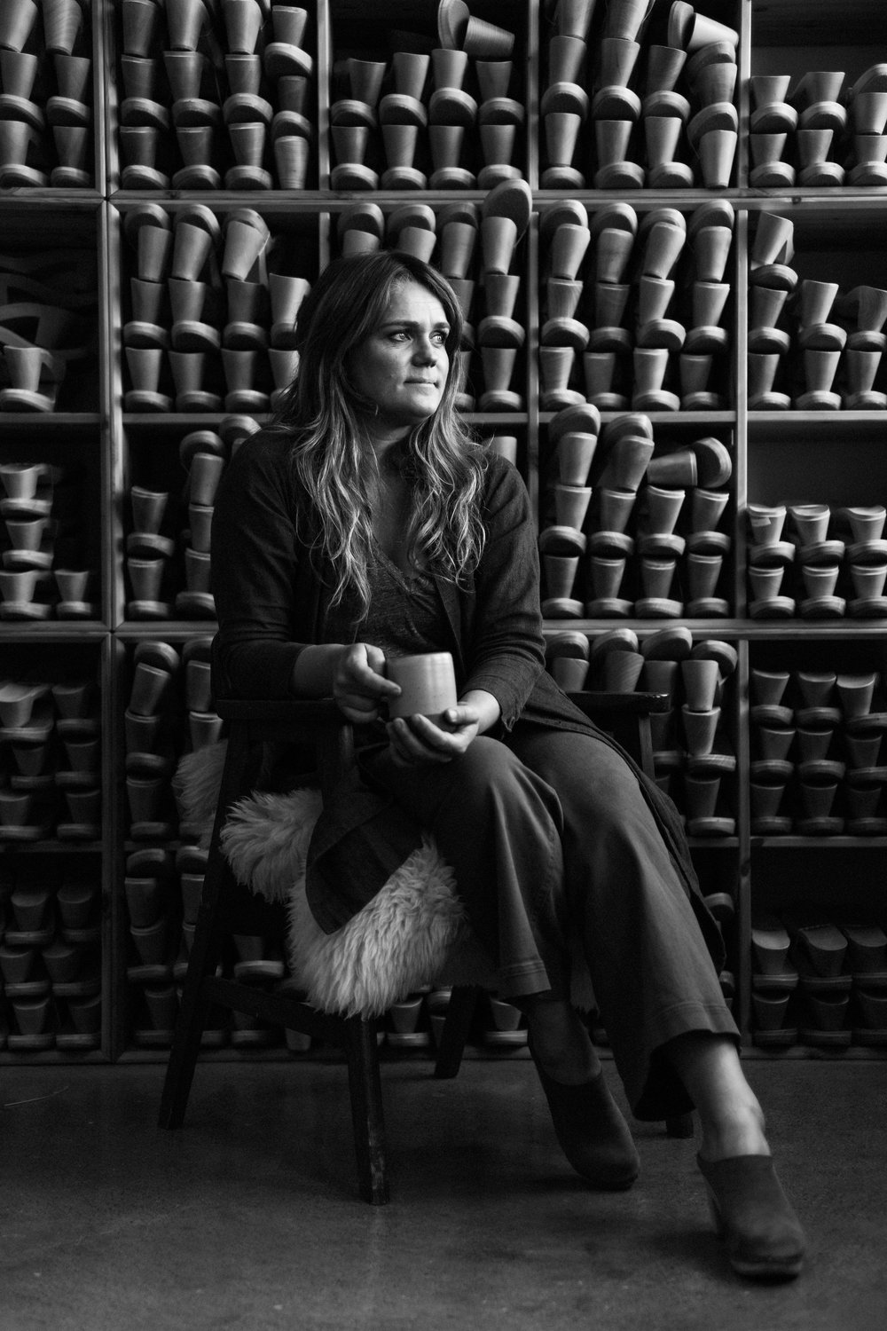 Isobel Schofield, founder and designer of BRYR Clogs