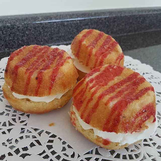Want to try something new? Try our new Savarin cakes.  #viennabakery #yeglocal #yegshoplocal #yegbuylocal #yegsmallbusiness #savarin  #yegbaking #romaniandesserts #twoforsharing #yegcoffeebreak