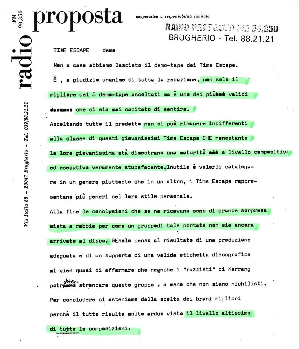 RADIO PROPOSTA (ITALY) - 1988