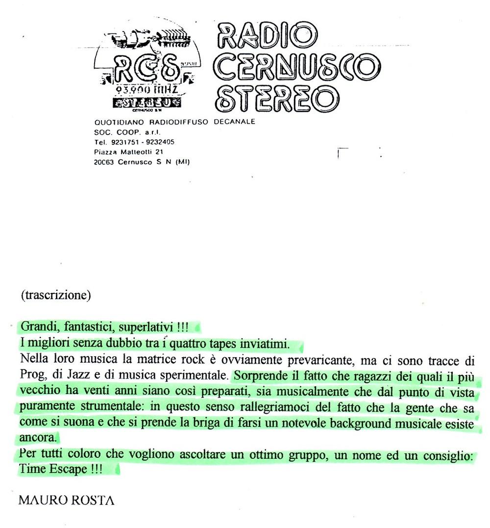 RADIO CERNUSCO (ITALY) - 1988