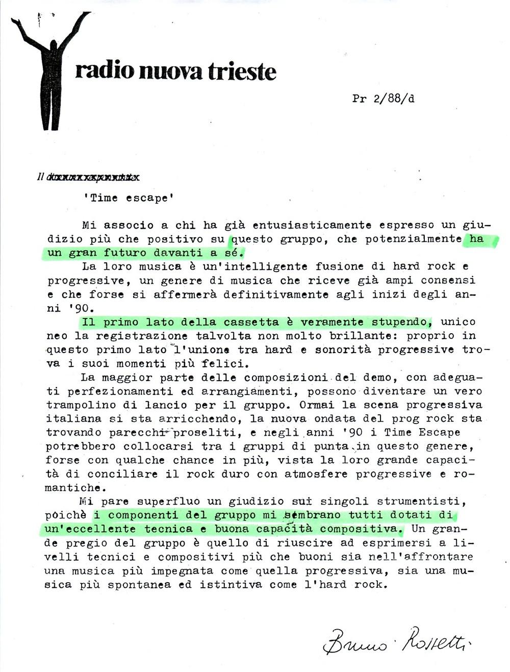 RADIO NUOVA TRIESTE (ITALY) - 1988