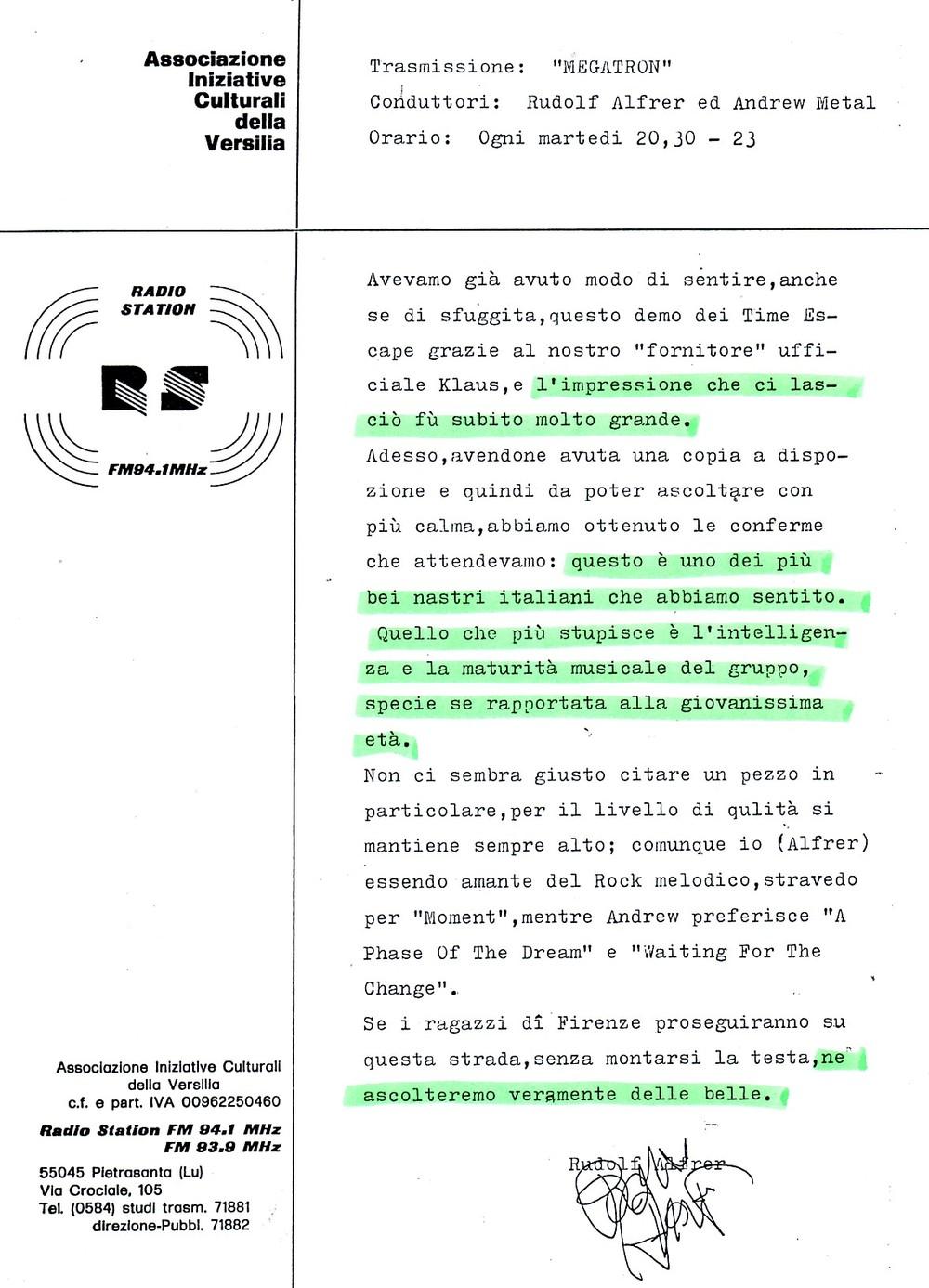 MEGATRON (ITALY) - 1988
