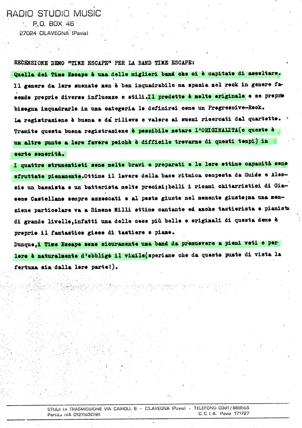 RADIO STUDIO MUSIC (ITALY) - 1988