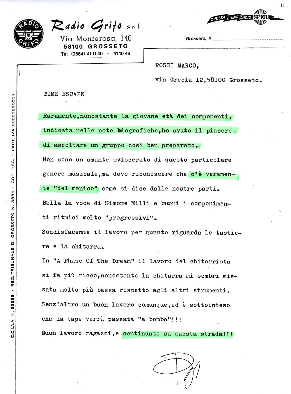 RADIO GRIFO (ITALY) - 1988