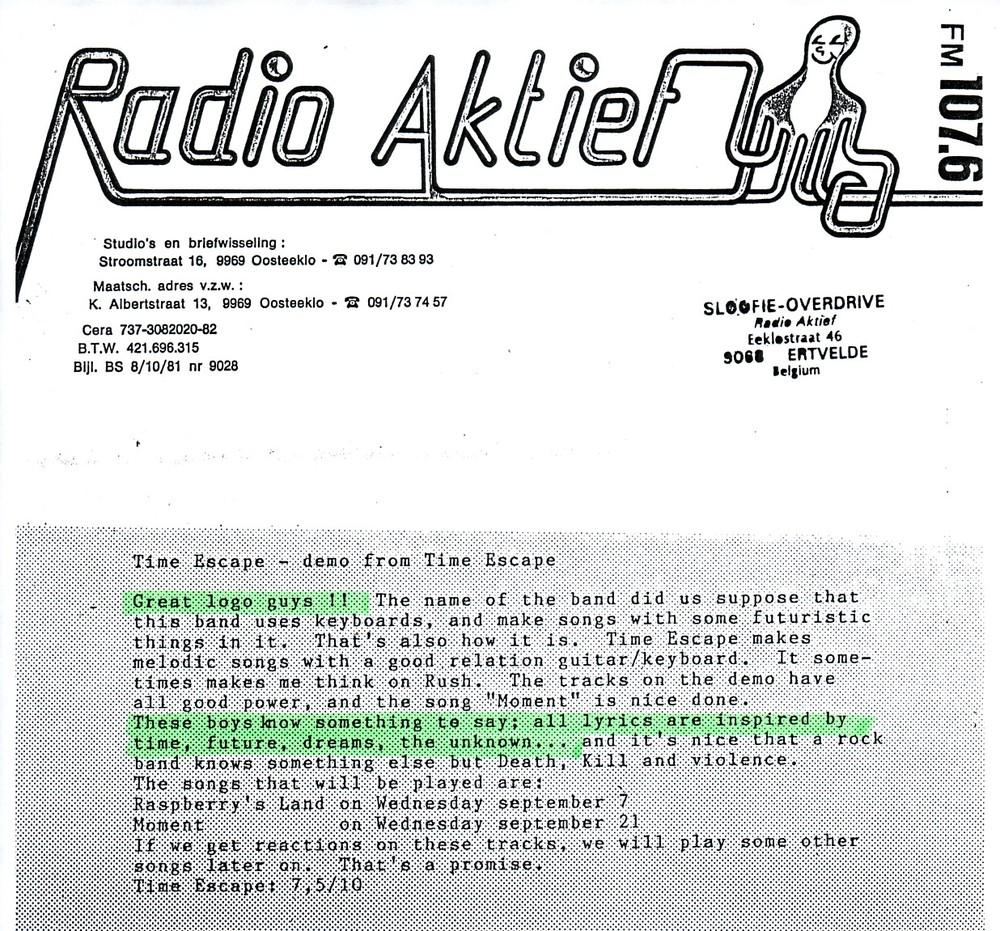 RADIO AKTIEF (BELGIUM) - 1988