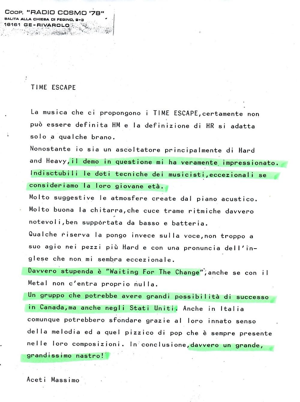 RADIO COSMO '76 (ITALY) - 1988