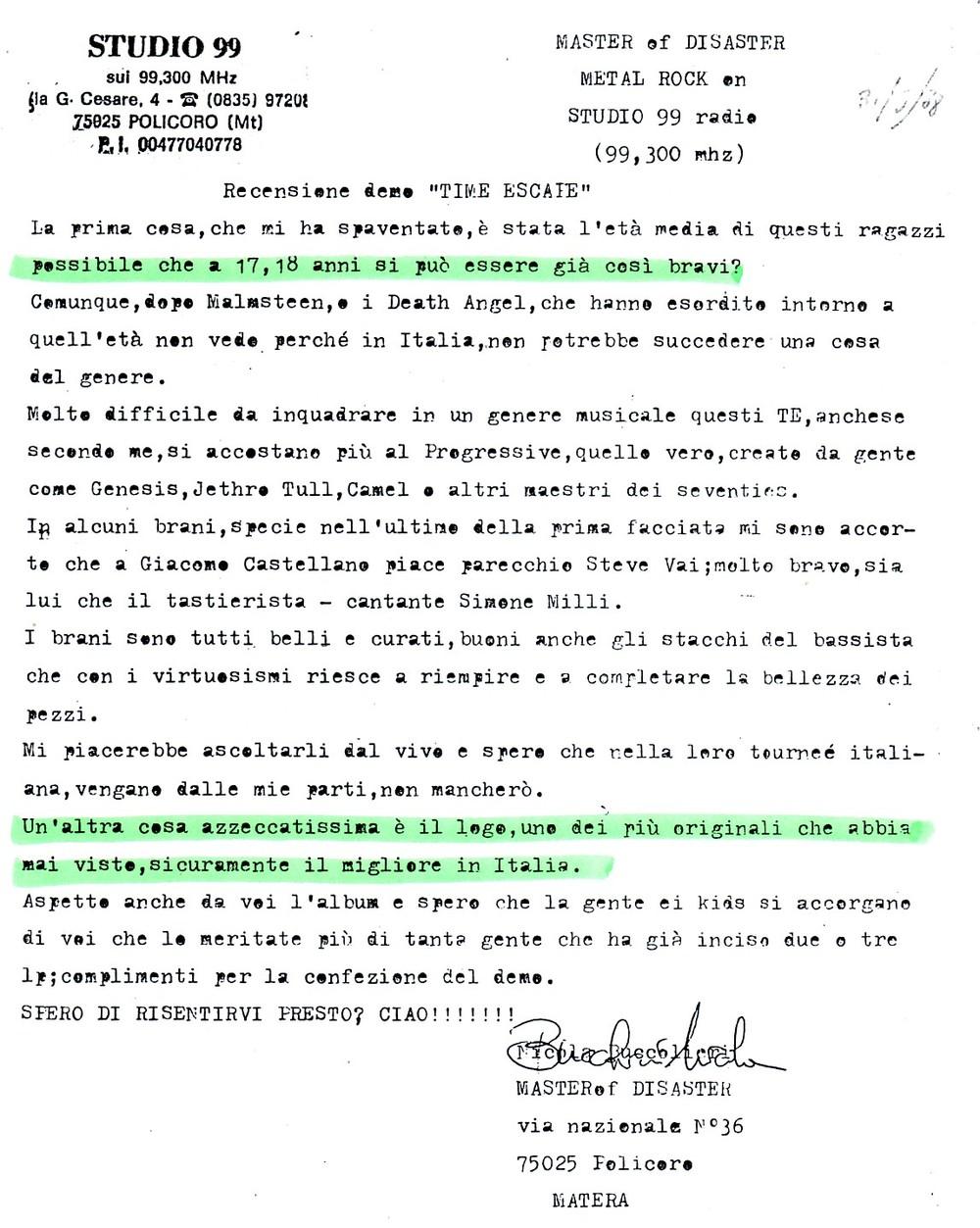 RADIO STUDIO 99 (ITALY) - 1988