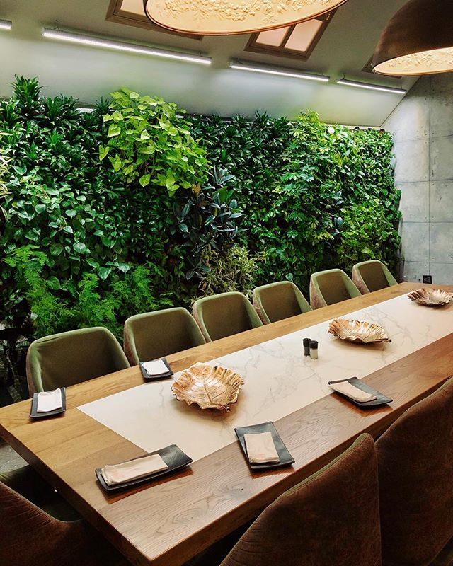 Living green walls are my favorite!🌿💚 This private dining space @carnelianattherock is perfect for an intimate gathering 🍽👍🏼 #SAFoodGuru =========================================== #restaurantlife #restaurantdecor #restaurantdesign #restaurantstyle #interiorinspo #interior_design #interiordesign #hospitalitydesign #beautifulspaces #foodiefinds #foodvsco #foodspace #privatediningroom #greenwalls #carnelianattherock #thecarnelian #restaurantinterior