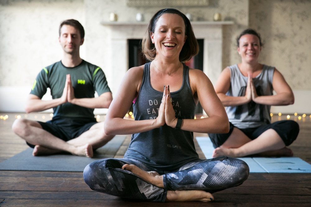 Sometimes we even laugh in the yoga lessons. Ok - it's mostly me laughing. Alone. At my own jokes....Sorry.
