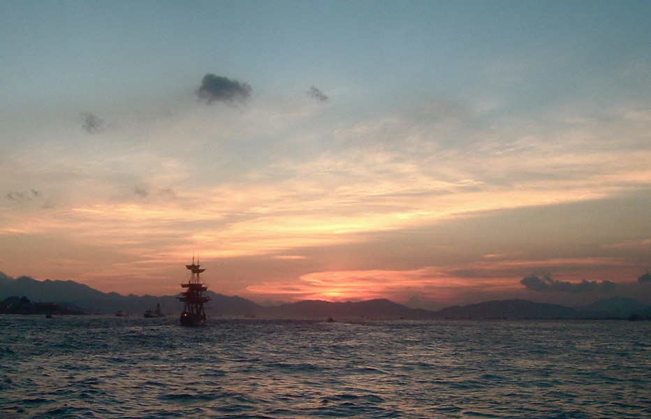 Pirate Sunset: In the Distance