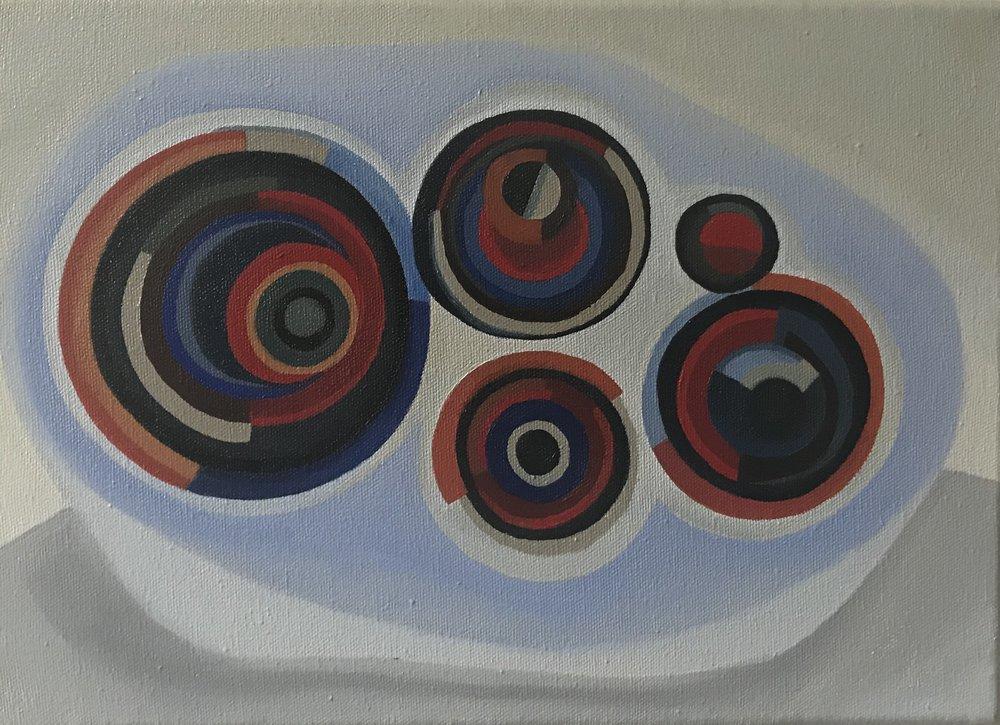 MAGDALENA JITRIK,  Tres estrellas . Óleo sobre tela / oil on canvas, 50 x 60 cm / 19.6 x 23.6 inch