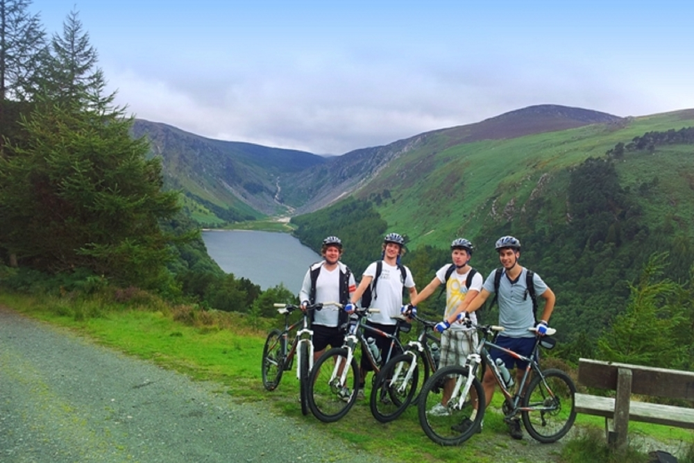 Cycling in Glendalough