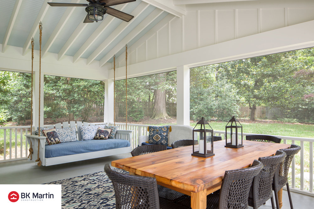 Outdoor Living - B.K. Martin Construction, Inc. C.L. Shade DraftingSiewers Lumber & Millwork