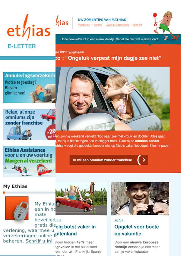 Ethias restyling e-letter   (in vaste dienst bij Sanoma)