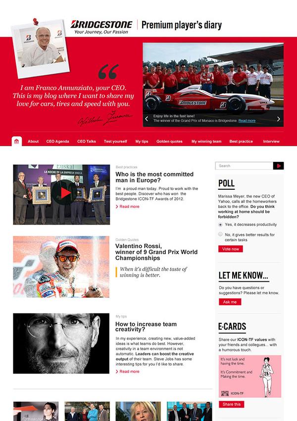 Van personeelsblad tot CEO-blog voor bandenfabrikant Bridgestone   (in vaste dienst bij Sanoma)