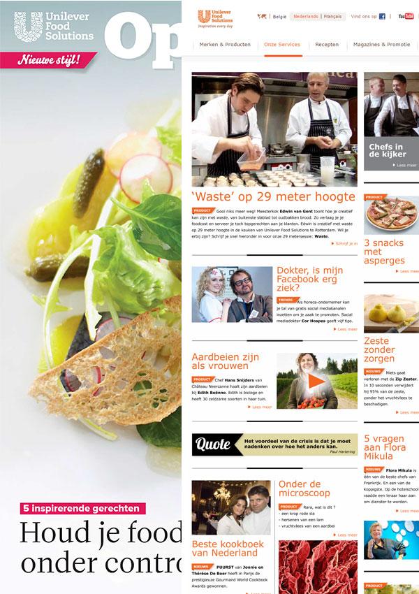Magazine en site voor chefs voor Unilever Food Solutions   (in vaste dienst voor Sanoma)