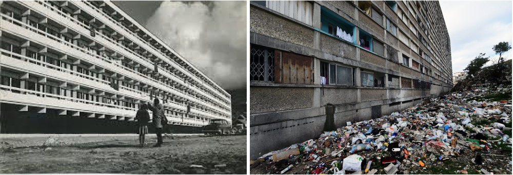 Blok P fra 1966 – i NUUK  - revet ned 2012                                                                       St  Etienne, Montchovet, France - https://hiveminer.com/Tags/architecture,chantier