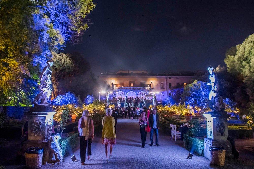 The gardens of the Palazzo Corsini al Prato,Florenc  e
