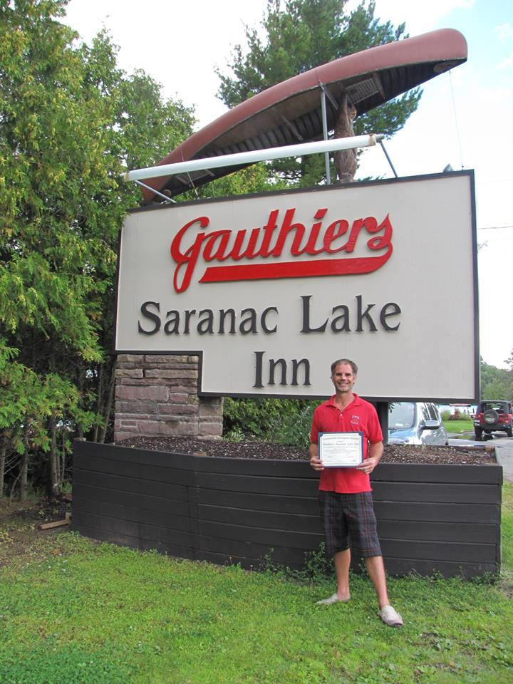 Gauthiers Saranac Lake Inn  in Saranac Lake, NY was the next installment of our Community Champion Award in October of 2015. We thank them for their efforts to make our community a safe place to live, work, and play.