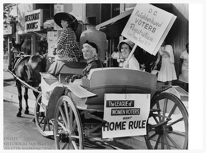 1964 - League president nettie ottenberg rallies for dc voting rights and home rule.