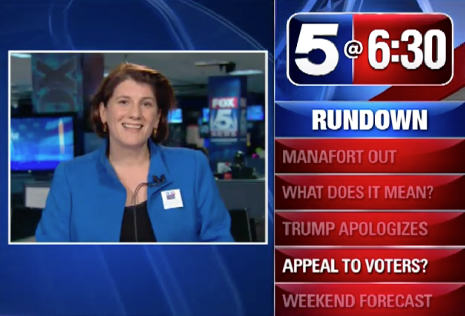 Vice President Alex Dickson on WTTG discussing the impact of women voting in US Elections.