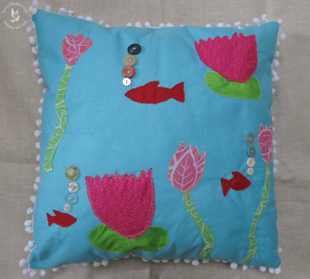 Cushion Making-Tisha 9 yrs