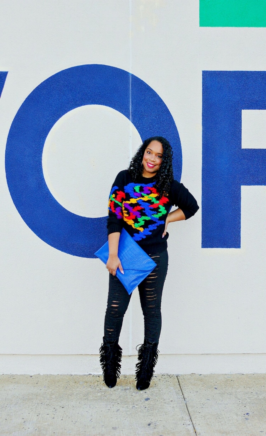 Style & Poise: Colorful sweater
