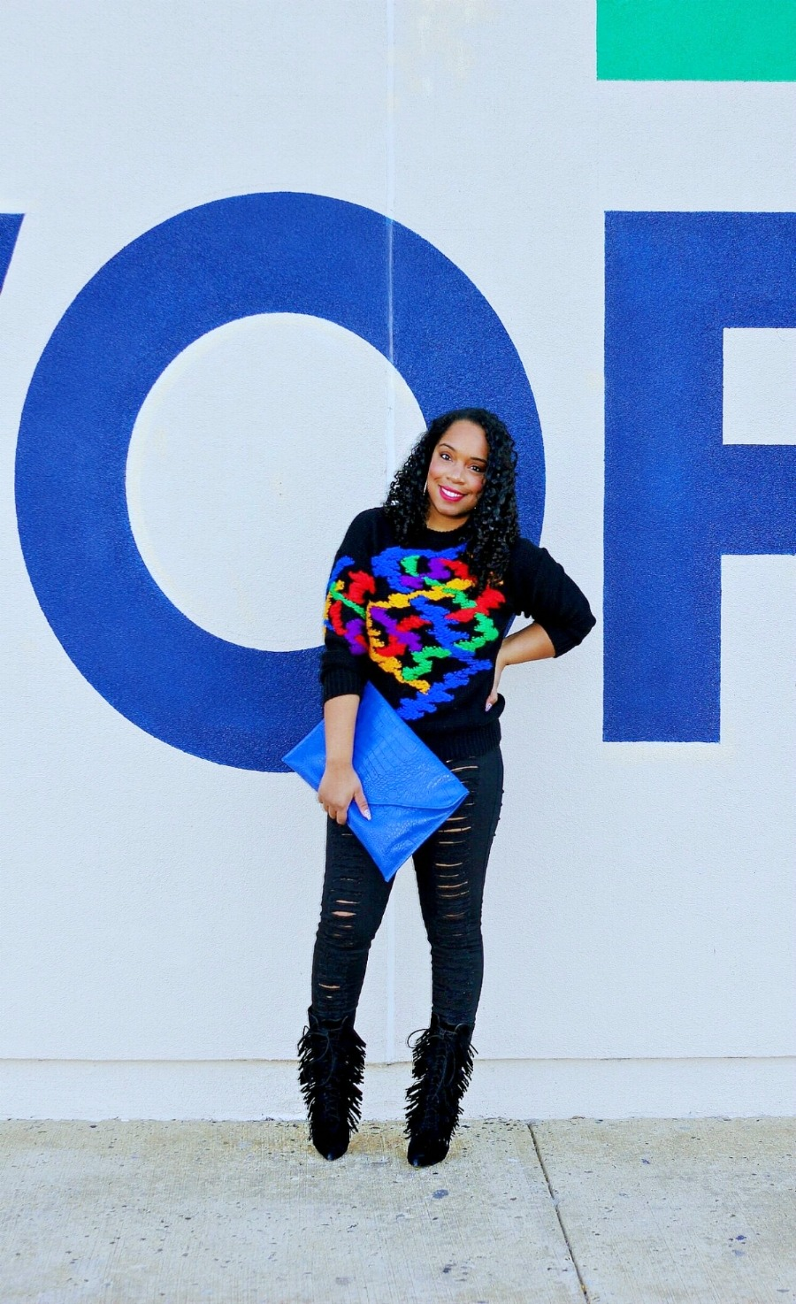 Style & Poise: Colorful Vintage Sweater