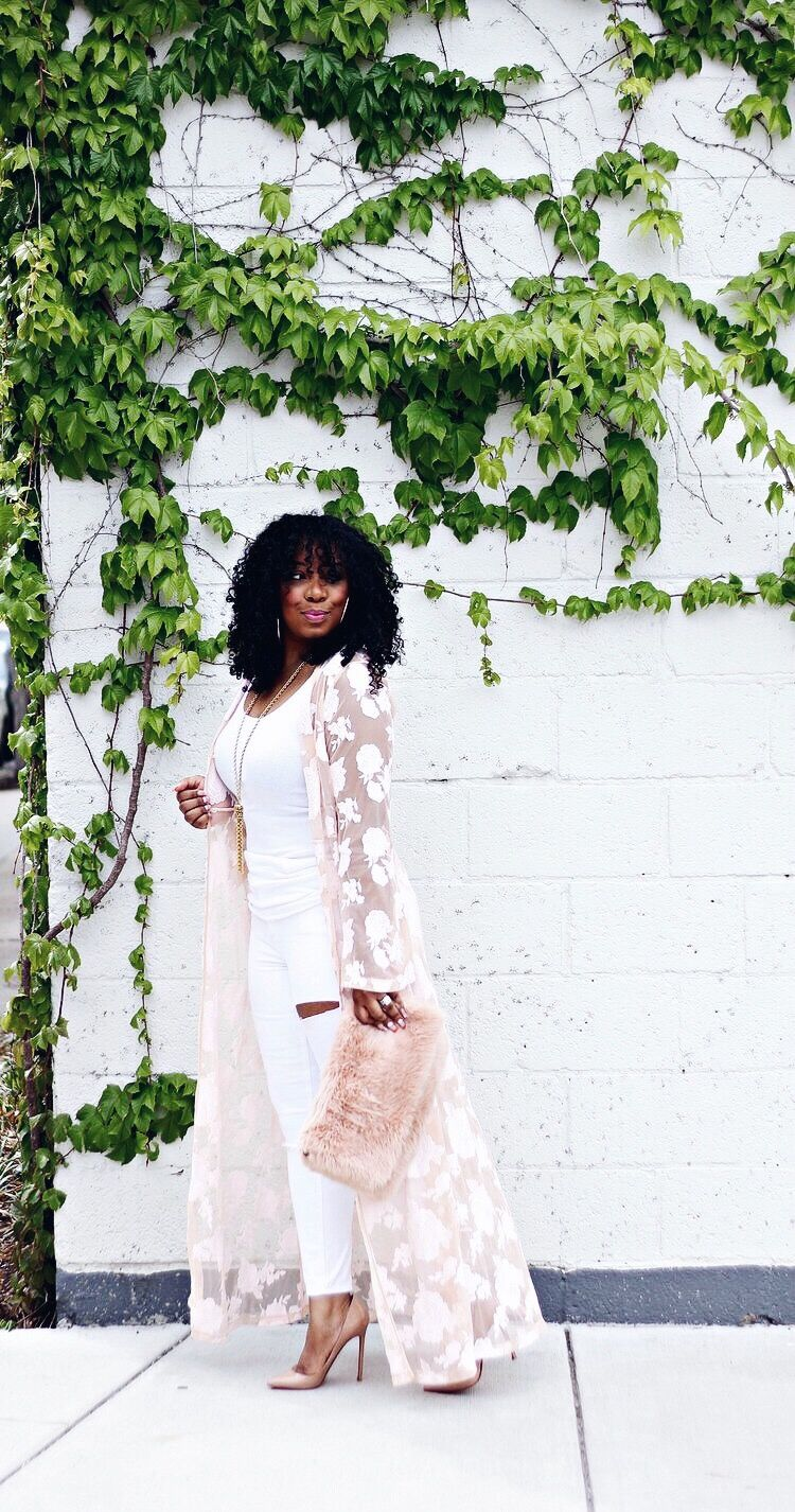 Blush Lace Duster