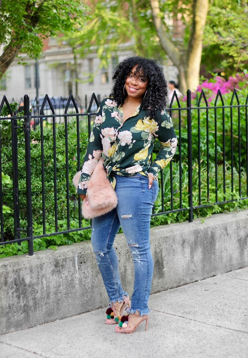 Style & Poise-Florals and Distressed Denim