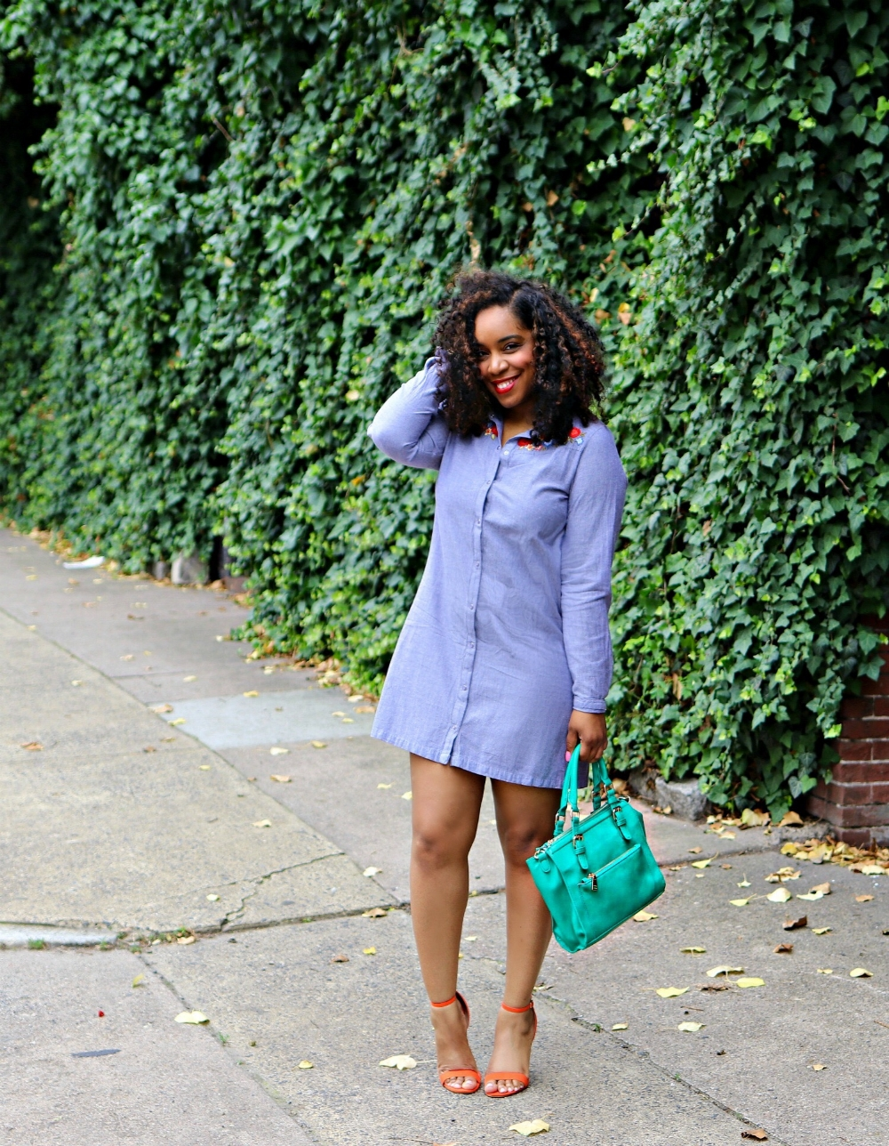 Style & Poise: How to Style and Embrodiered Dress
