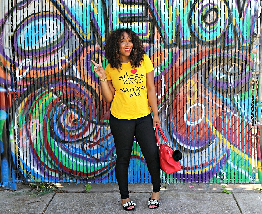 Style & Poise: Cute T-shirt and Pearl Slides